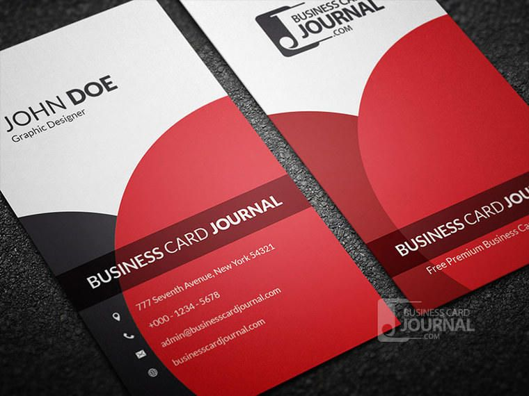 Classy Elegant Vertical Business Card - Vector download