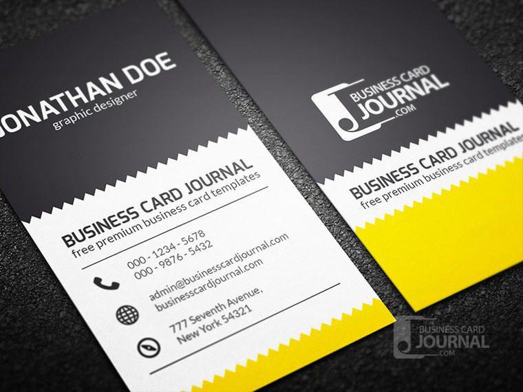 Zigzag Design Vertical Business Card - Vector download