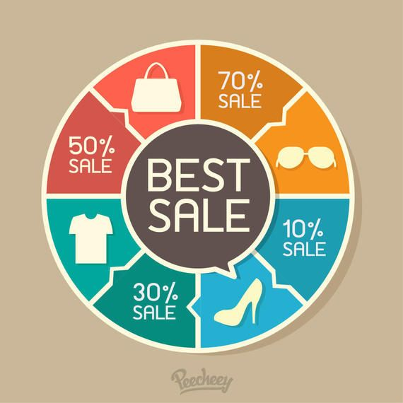 Puzzling Around Sale Chart Infographic - Vector download - Sale Chart