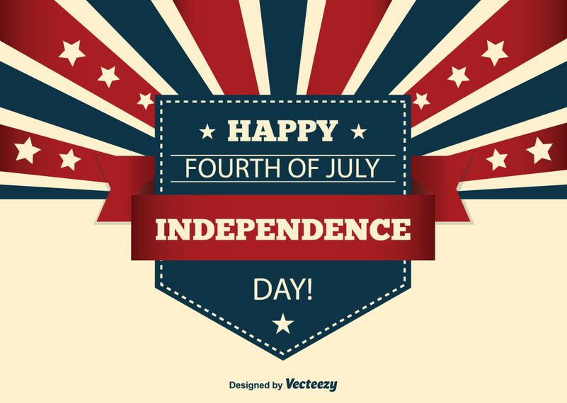 Creative USA Independence Day Card - Vector download