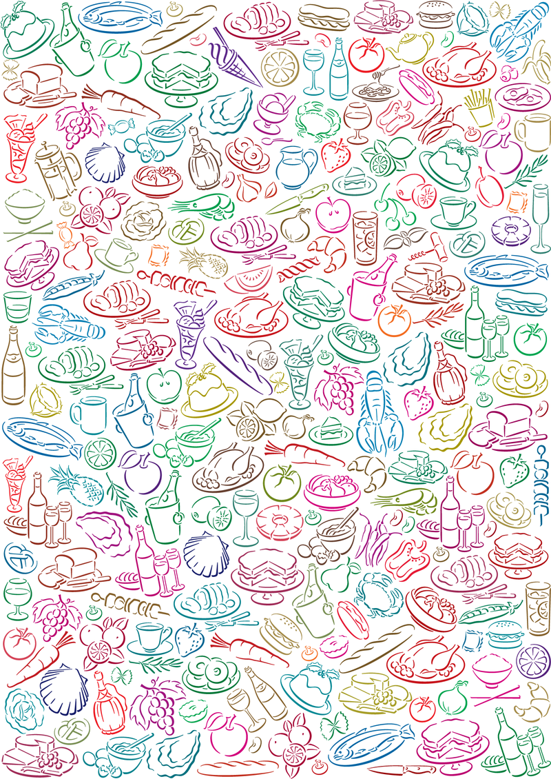 Cute Korean Cartoon Wallpapers Vector Food Pattern Vector Download