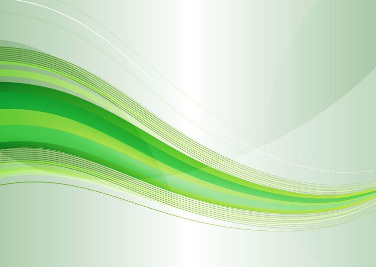 Modern Abstract Green Waves on Grey Background - Vector download