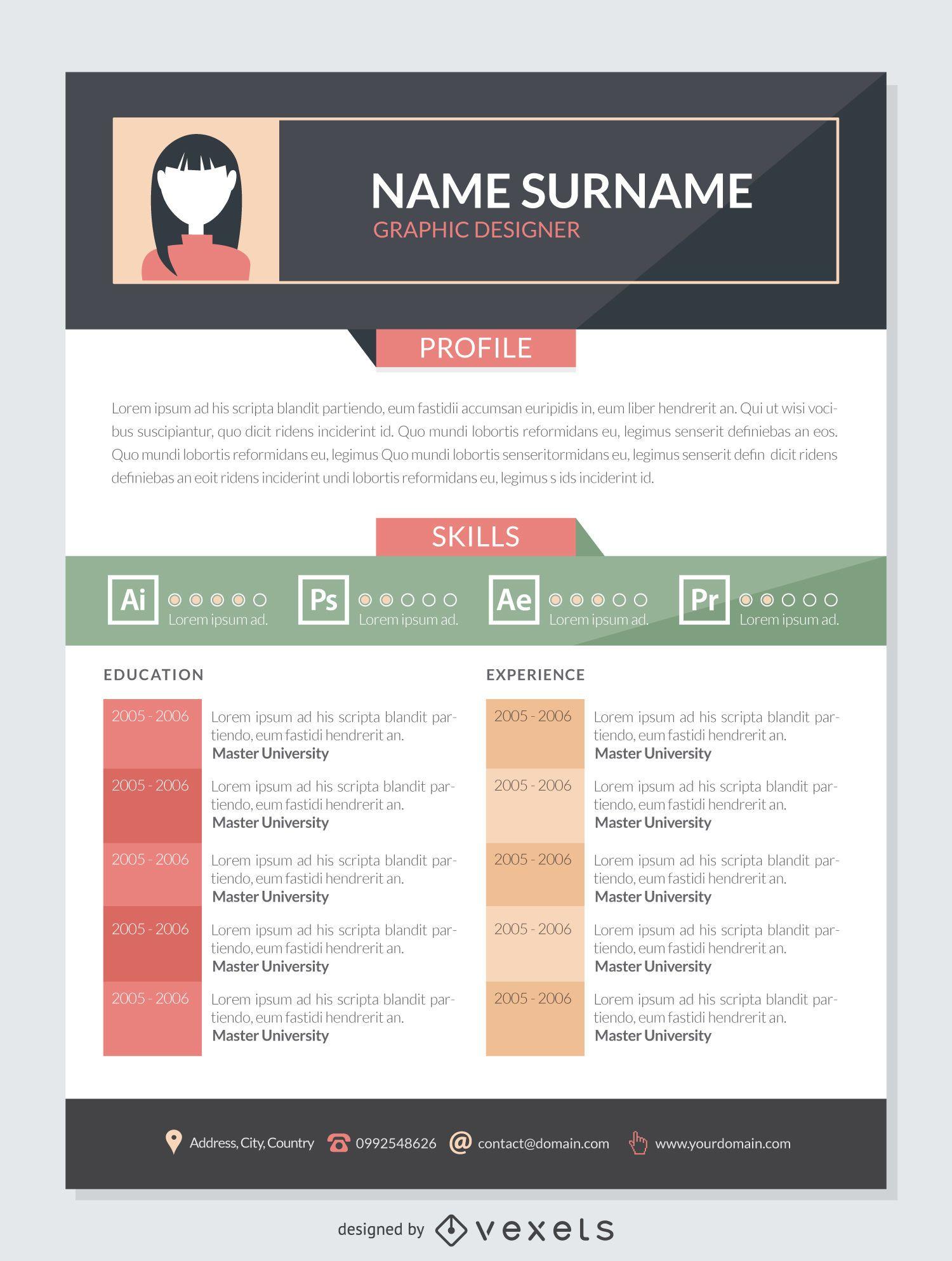 editable pdf resume template online
