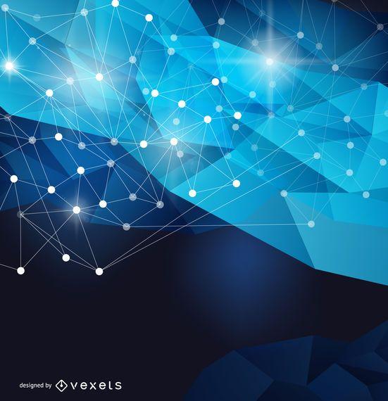 Futuristic mesh background - Vector download