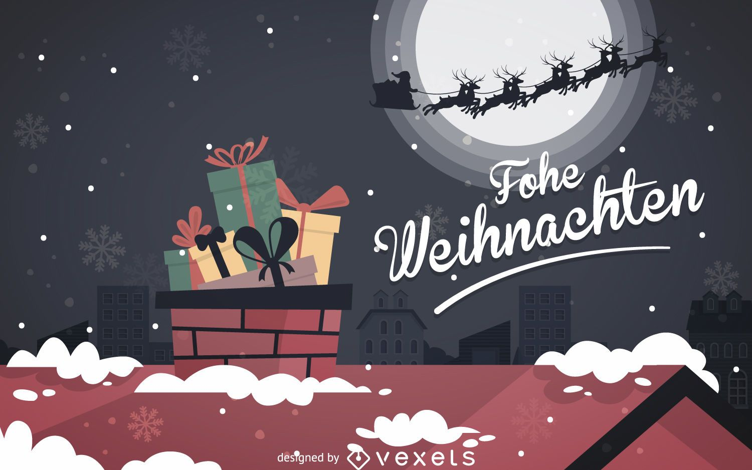 Design Weihnachten Frohe Weihnachten Flat Design Vector Download