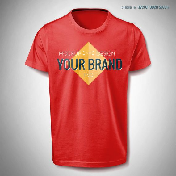 T shirt mockup template PSD - PSD download