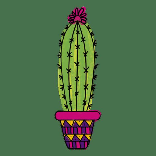 Fall Succulent Wallpaper Watercolor Cactus Pot Ornamented Silhouette Transparent