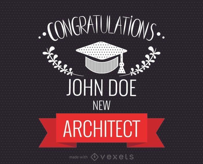 Fabricante de tarjetas de felicitaciones de graduación - Diseño editable