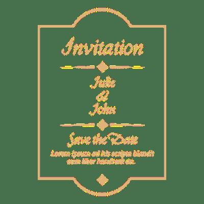 Wedding invitation badge 4 - Transparent PNG & SVG vector