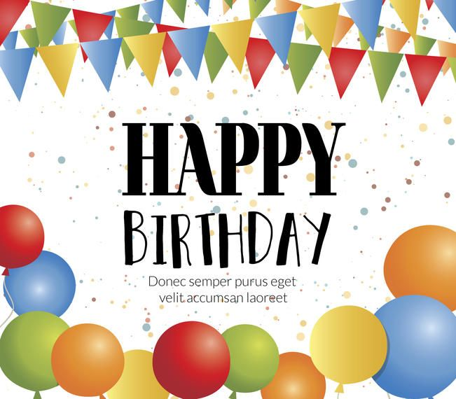 Happy Birthday card maker - Editable design