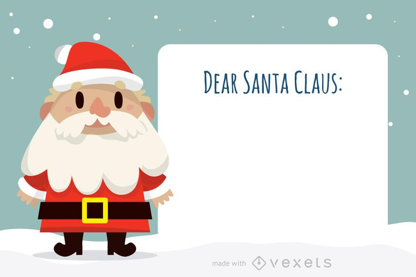 Dear Santa Claus letter maker - Editable design