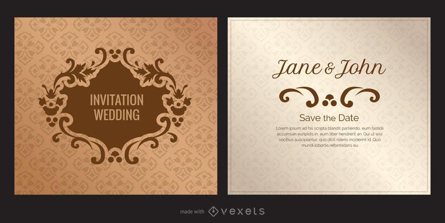 Wedding card invitation maker - Editable design
