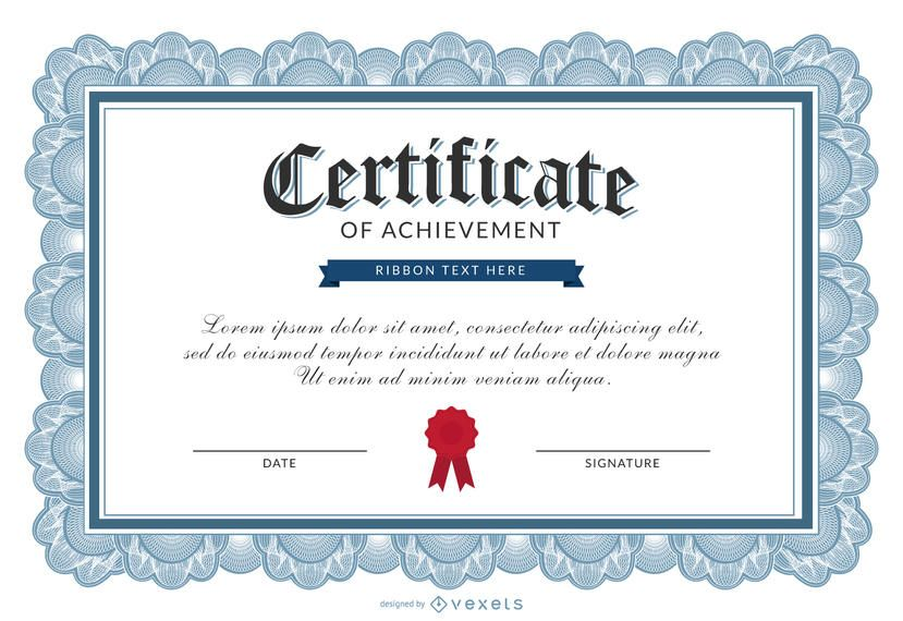 Certificate of achievement template - Vector download