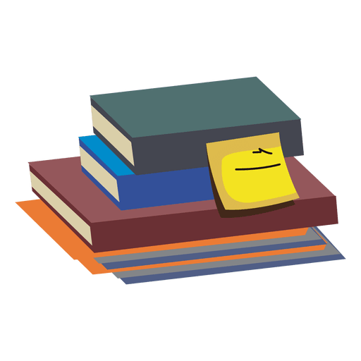 Libro Poker Stack Of Books - Transparent Png & Svg Vector