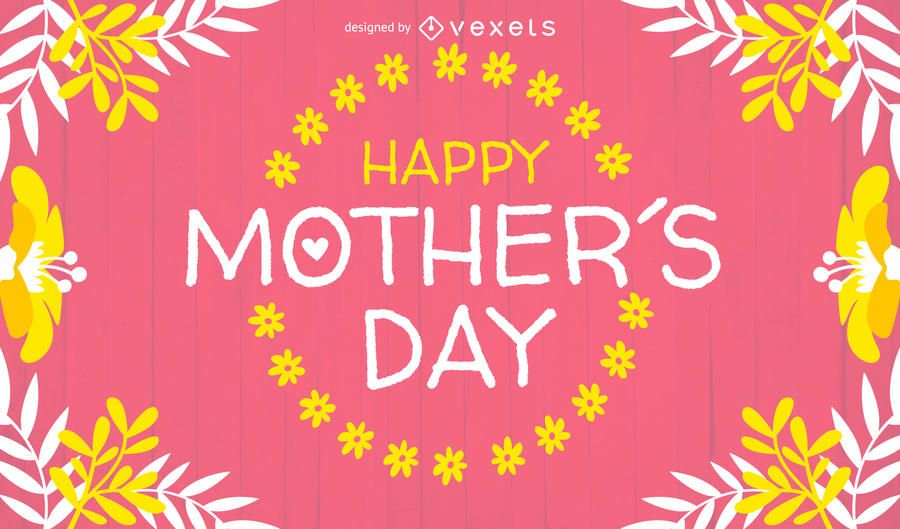 Bright Mother\u0027s Day card design - Vector download