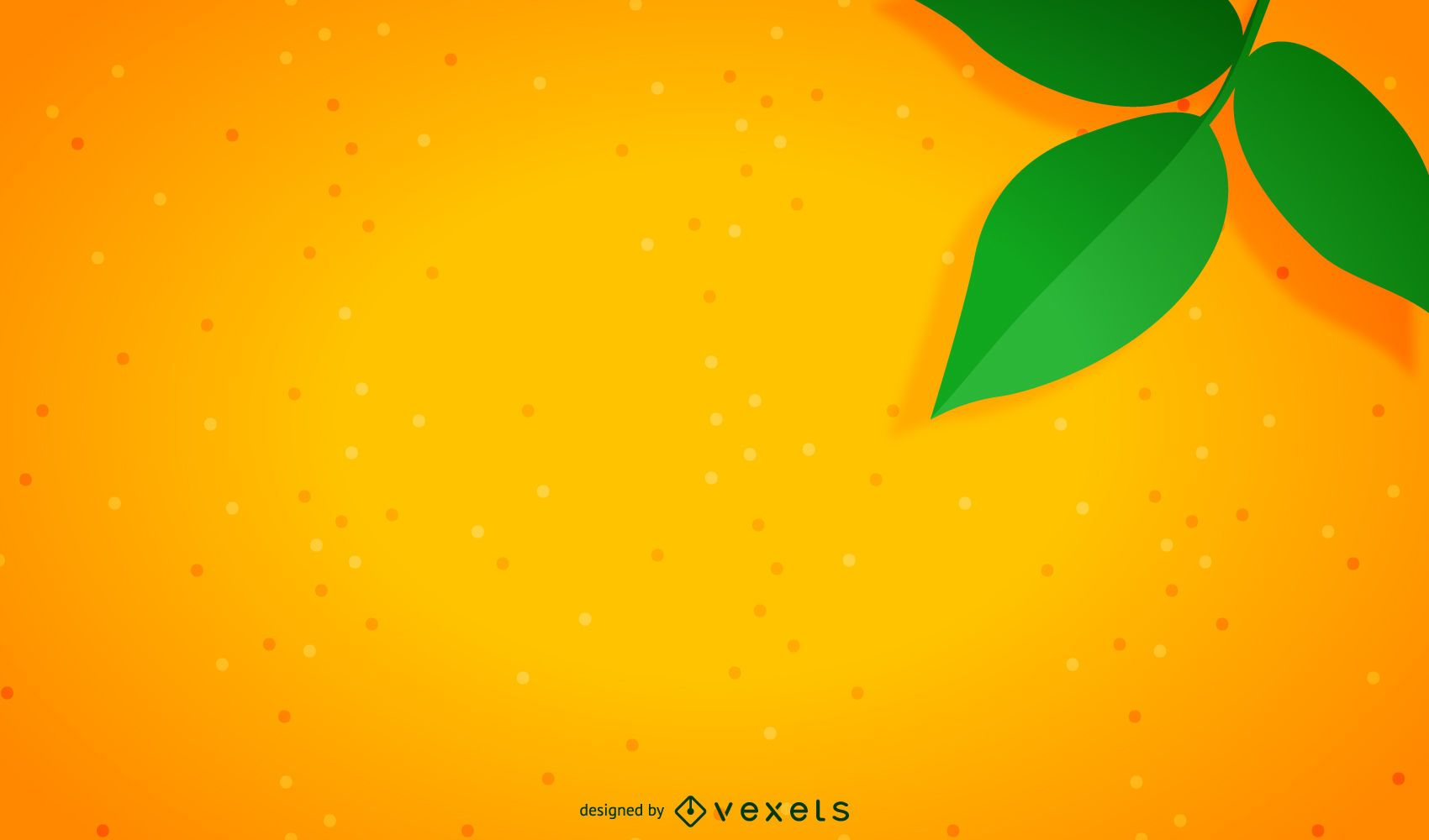 Cute Cartoon Flower Wallpaper Minimalist Orange Background Vector Download