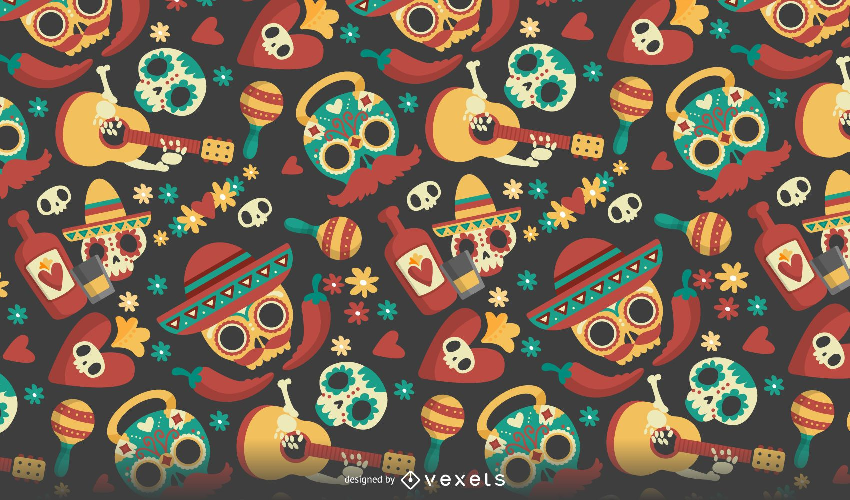 Seasonal Wallpaper For Iphone Dia De Los Muertos Seamless Pattern Vector Download