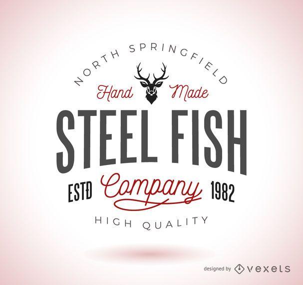 Vintage hipster logo template - Vector download