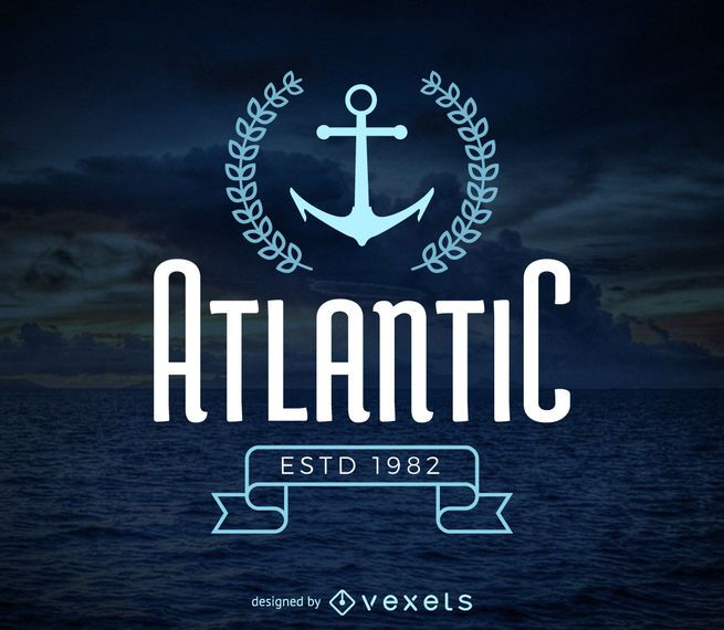 Marine hipster logo template - Vector download - hipster logo template