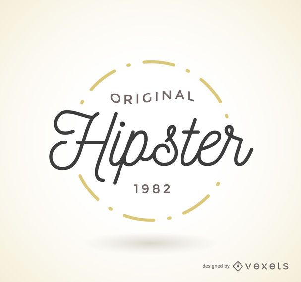 Hipster logo badge template - Vector download - hipster logo template