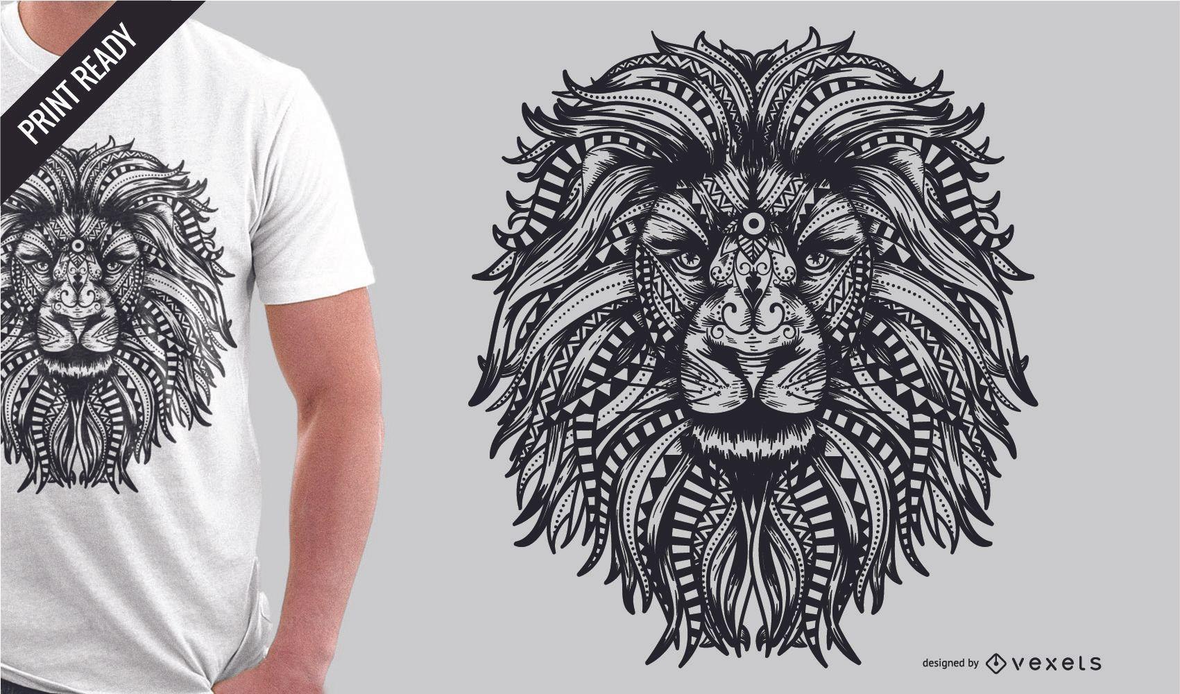 Tribal Cute Wallpaper Mandala Lion T Shirt Design Vector Download