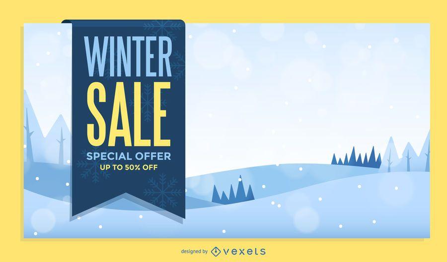 Winter sale poster design - Vector download - sale poster design