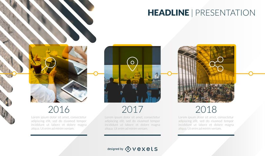 Presentation timeline template design - Vector download