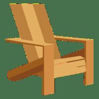 Adirondack chair illustration - Transparent PNG & SVG vector