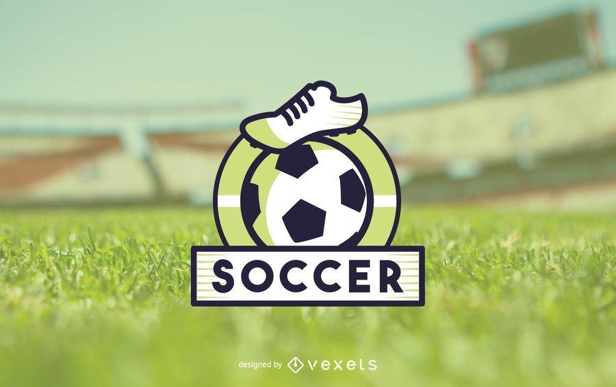 Soccer logo template - Vector download
