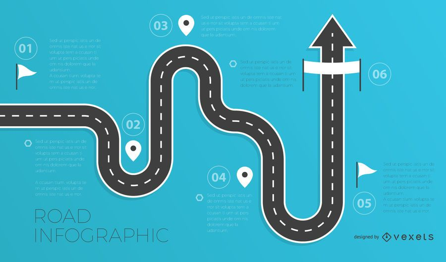 Road infographics template - Vector download