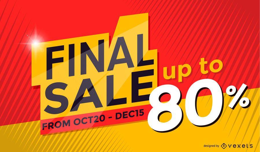 Final sale poster design - Vector download - sale poster design