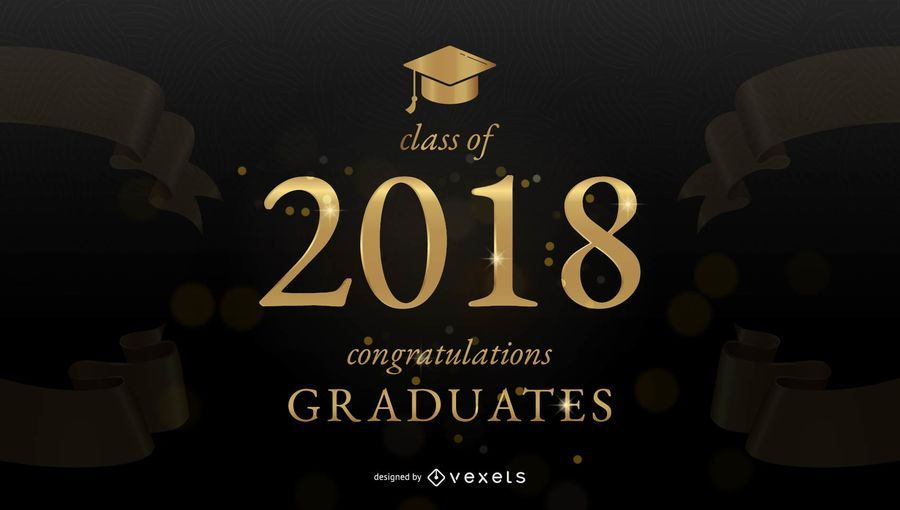 Graduation congratulations banner - Vector download