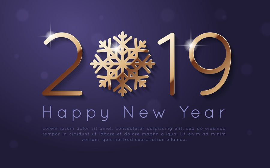 New Year 2019 background design - Vector download