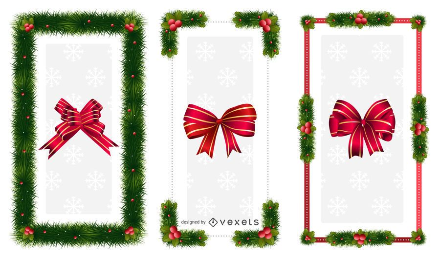 Christmas ornaments Frames - Vector download