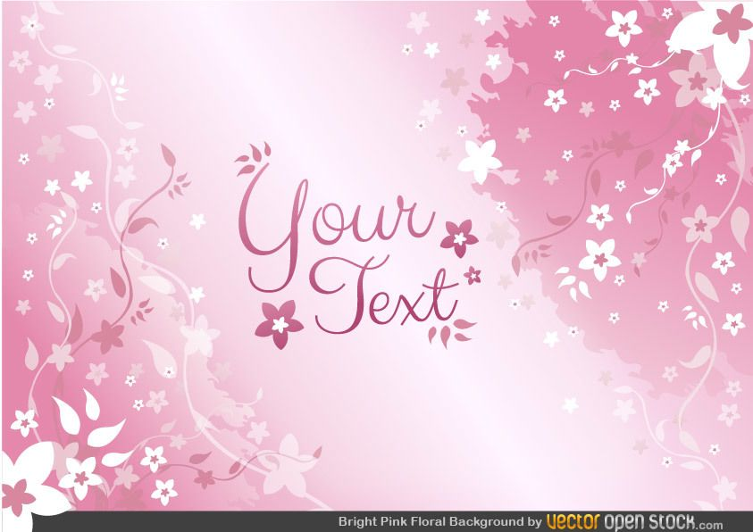 Pink Floral Background - Vector download