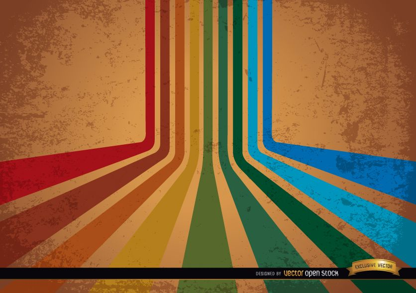 Paint Falling Wallpaper Abstract Retro Colorful Stripes Background Vector Download