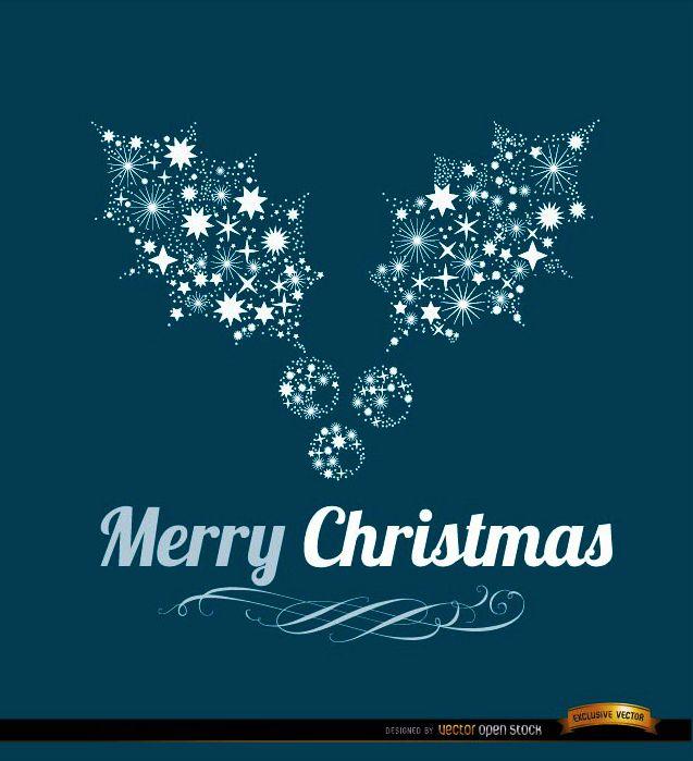 Merry Christmas mistletoe background - Vector download