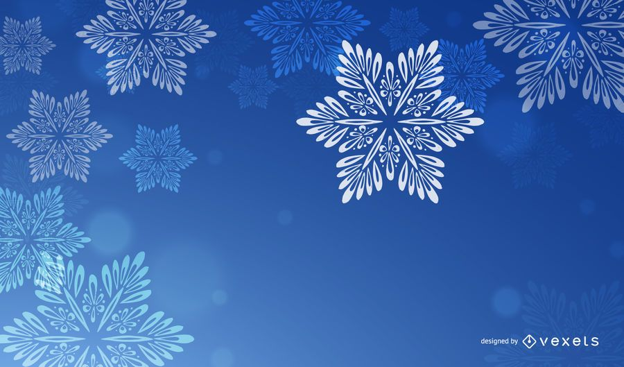 Blue Christmas Background with White Snowflakes - Vector download - christmas background image