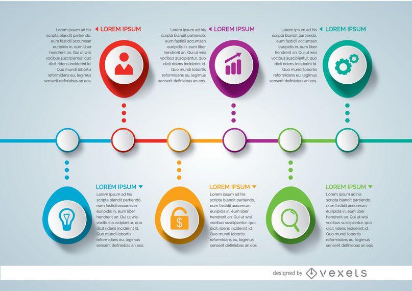 Infografía del cronograma del proyecto - Descargar vector