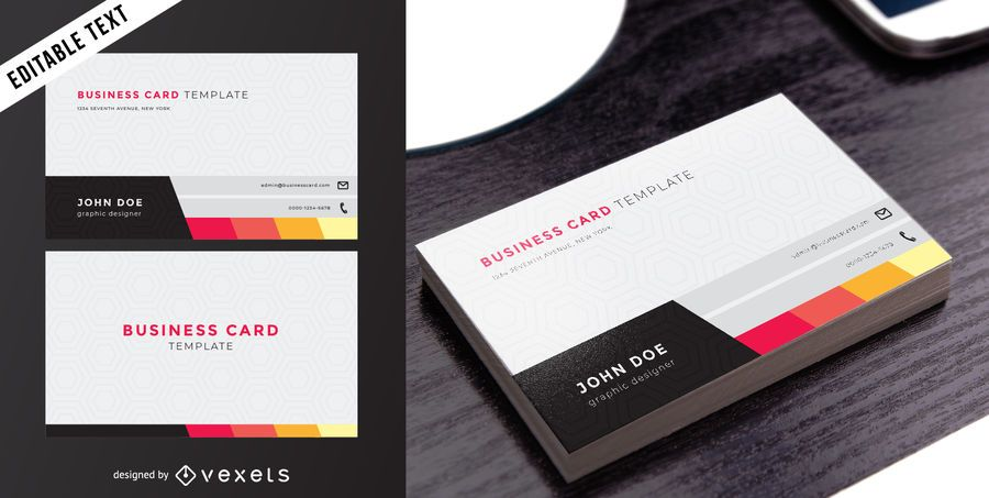 Classy Two Sided Business Card - Vector download