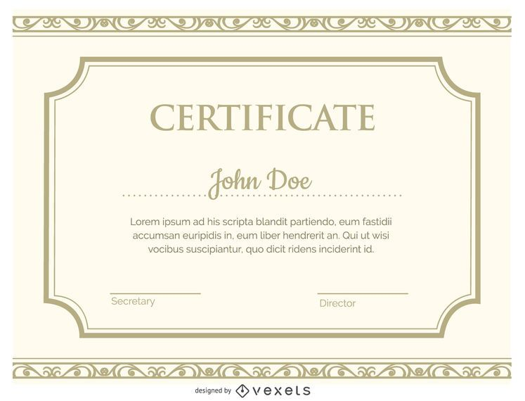 Certificate template - Vector download - certificate templat