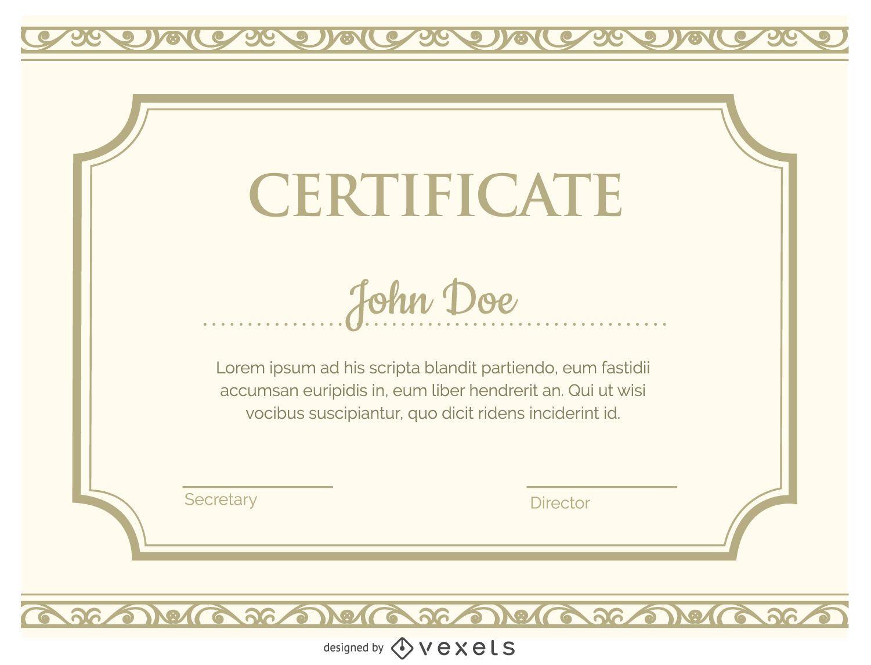 Modelo de certificado - Baixar Vector - modelos de certificados