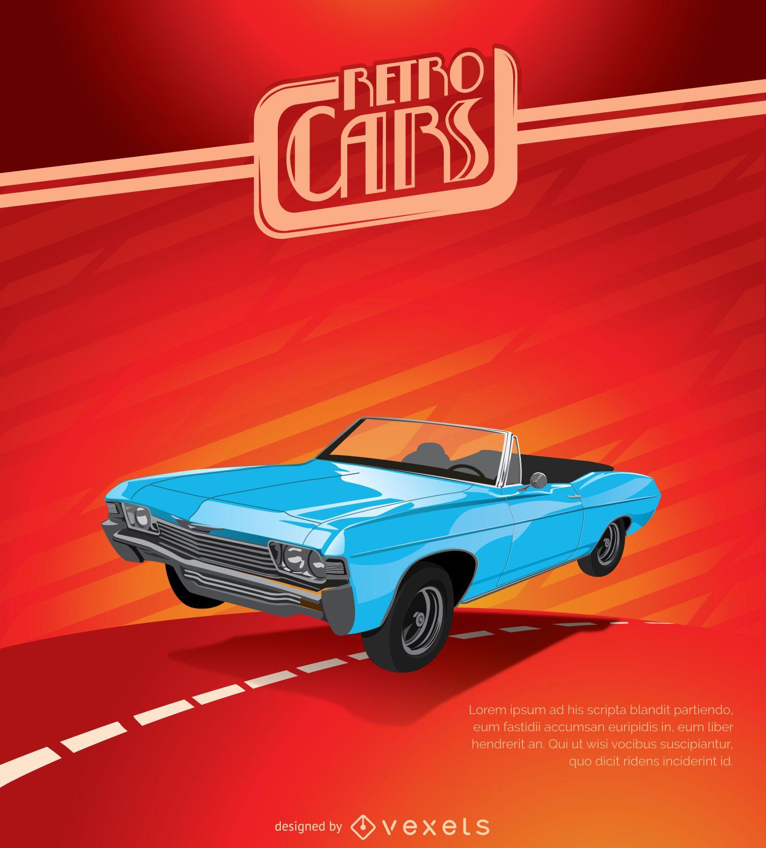 Vintage Car Wallpaper Transparent Vintage Car Poster Vector Download