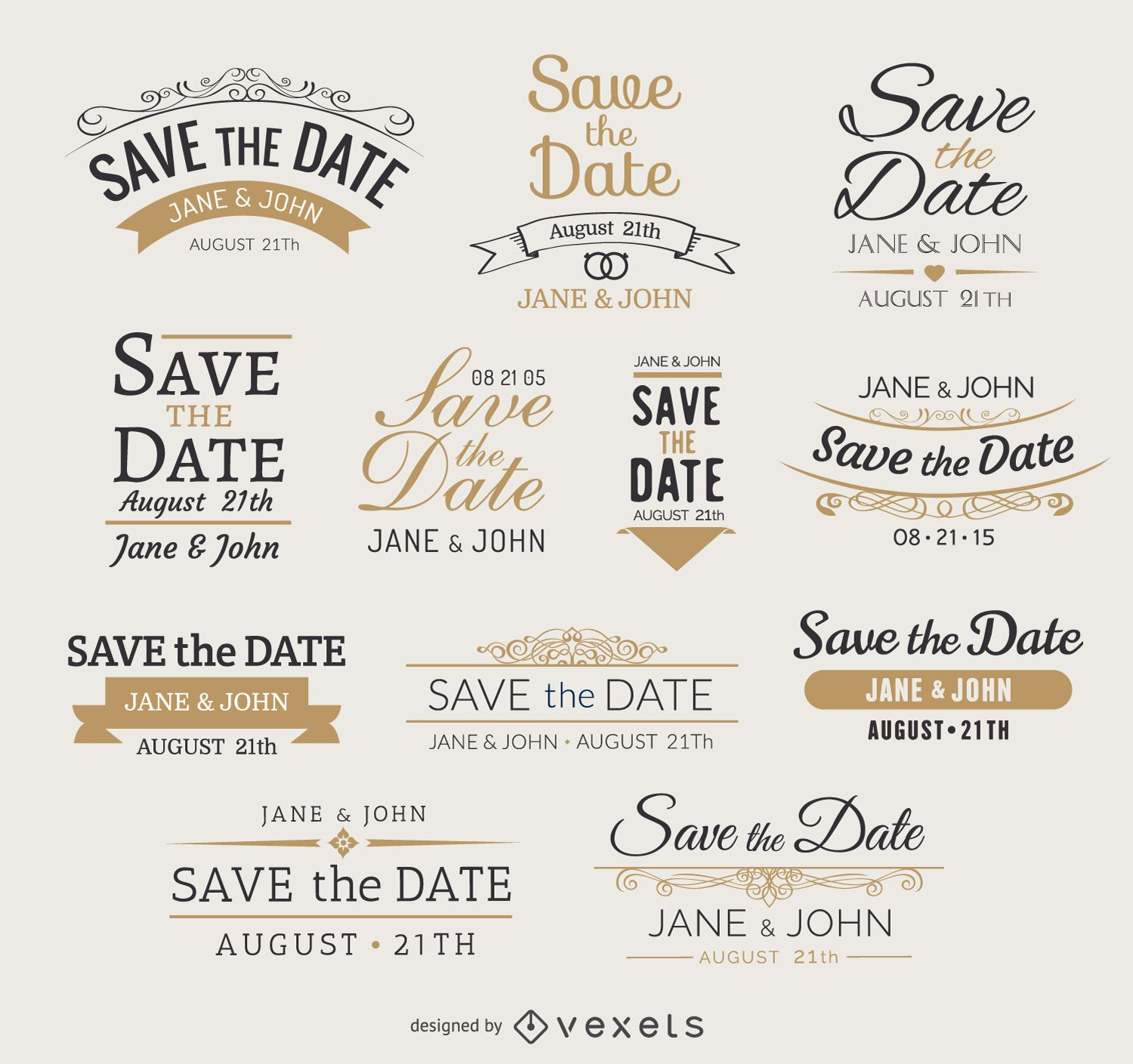 Save the date Vector  Graphics to Download