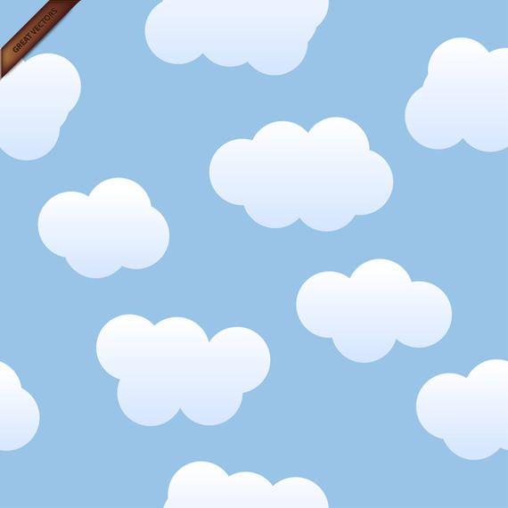 Seamless Nubes del vector del fondo - Descargar vector - fondo nubes