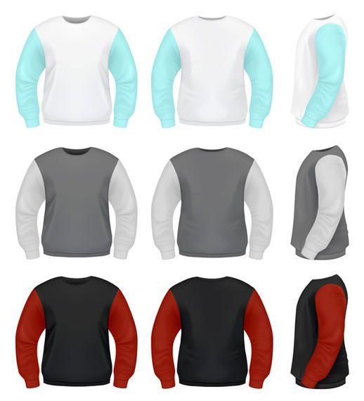 Vector Sweater Template - Vector download