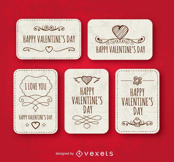 Happy valentine\u0027s day labels - Vector download