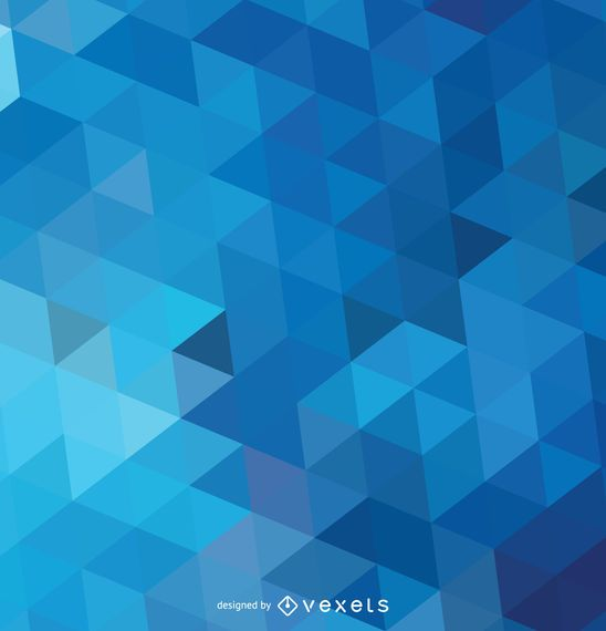 Wallpaper 3d Buat Android Abstract Polygonal Blue Background Vector Download