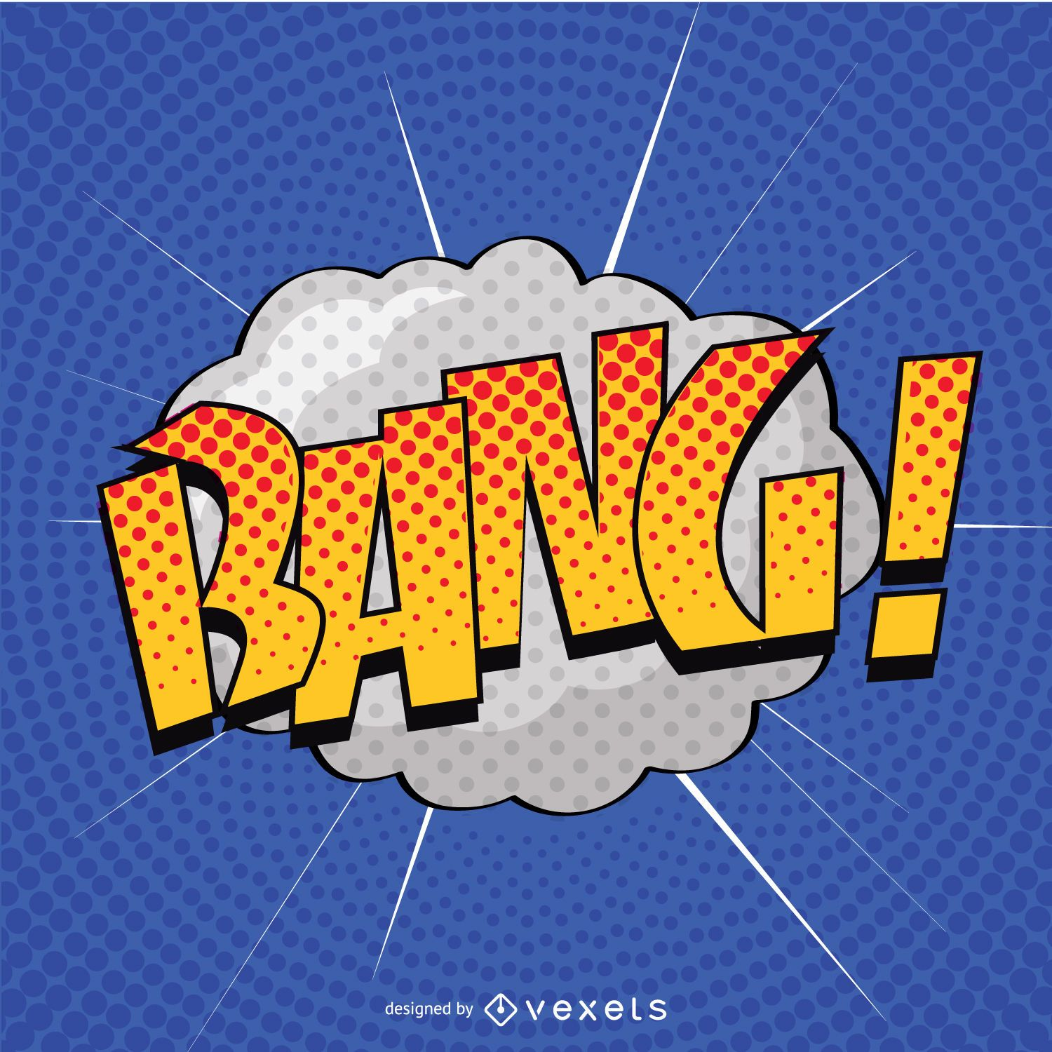 The Color Of The Wallpaper Quote Pop Art Bang Sign Vector Download