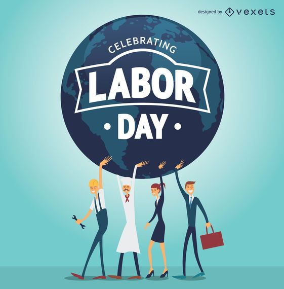 labor day posters - Maggilocustdesign - labour day flyer template